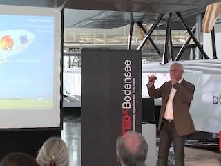 Der Zeppelin unterwegs im Klimaschutz: Fritz Günther